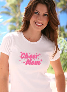 cheer mom with stars t shirt