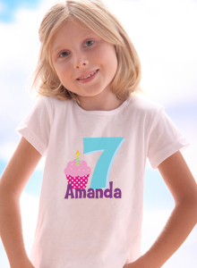 7th Birthday Cupcake T Shirt