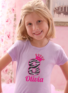 Girls 8th Birthday Cupcake T Shirt