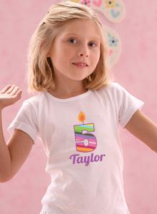 5th Birthday Rainbow T Shirt