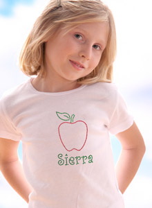 personalized apple t shirt