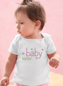 baby sister sparkling shirt