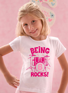 Being 8 Rocks T Shirt