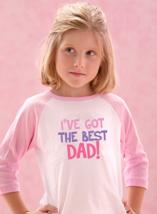 girls best dad t shirt