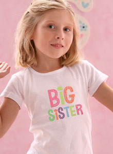 big sister candy colors t-shirt