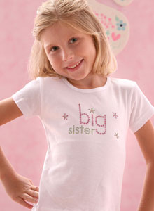 Girls Sparkling Big Sister T Shirt Big Sister Gifts For Baby