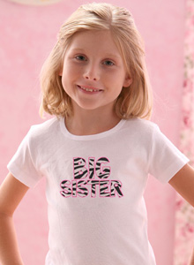 big sister zebra stitch shirt