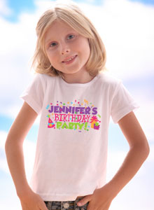 Girls Birthday Party Personalized T Shirt