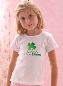 daddy's lucky charm t shirt