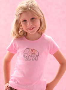 girls elephant t shirt