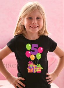 Fifth Birthday Balloons T Shirt