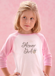 flower girl with ring t shirt