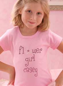 sparkling flower girl shirts