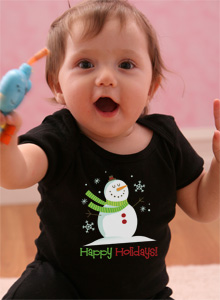 happy holidays snowman t shirt