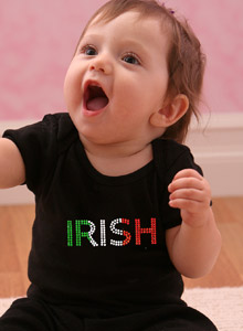 irish colors rhinestone shirt