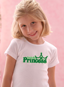 Girls Irish Princess T Shirt For St Patrick S Day