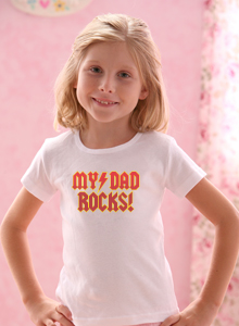 girls my dad rocks bolt t shirt