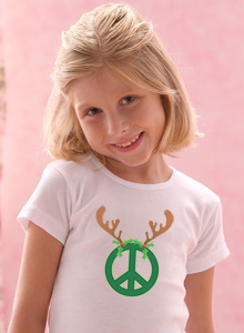 girls peace sign antlers t shirt