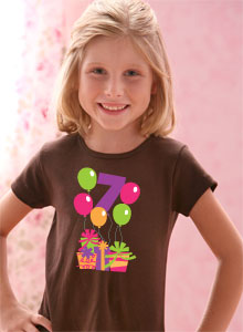 7th Birthday Balloons T Shirt