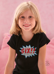 Six Birthday Burst T Shirt