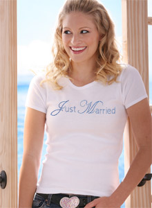 edwardian just married t shirt