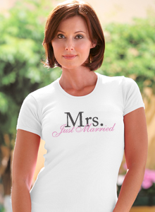 just married mrs t shirt