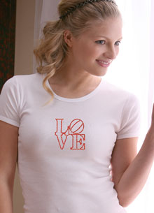 love stamp t-shirt