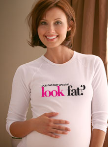 does this shirt make me look fat? maternity t-shirt