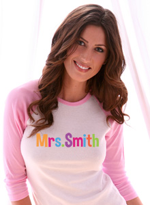 colorful mrs t shirt