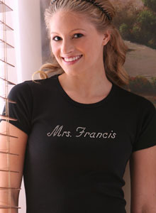 bridal mrs t shirt personalized with name