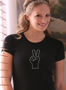 peace sign t shirt