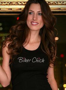 Rhinestone T Shirt - Biker Chick T Shirt Rhinestone- Women\'s Biker ...