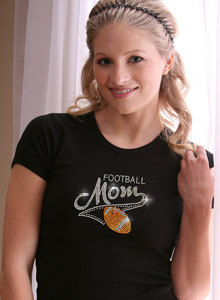 varsity football mom t-shirt