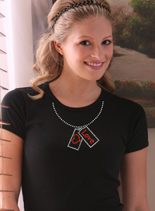 love necklace t shirt