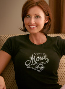varsity soccer mom t-shirt