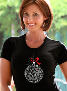 snowflake ornament t shirt