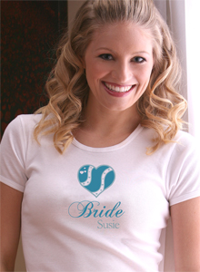 something blue bride t shirt