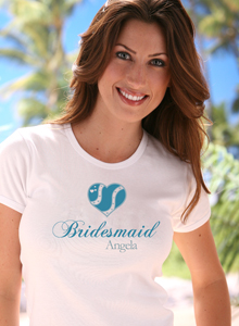 blue heart bridesmaid