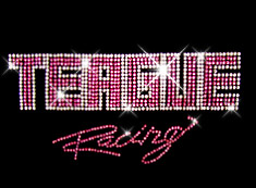 teague custom rhinestone logo