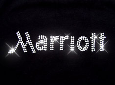 marriott rhinestone transfer