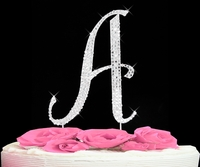 letter A cake topper